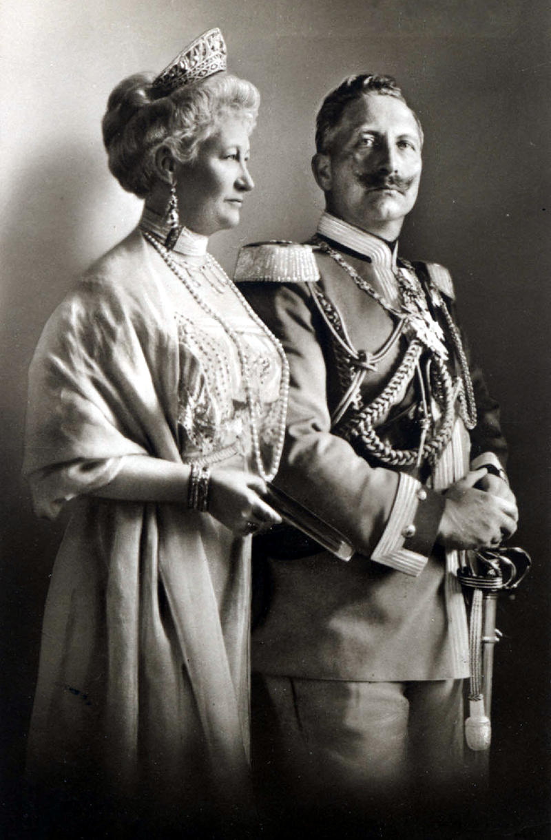 Empress Auguste Viktoria (1858-1921) and emperor Wilhem II (1859-1941) of Germany