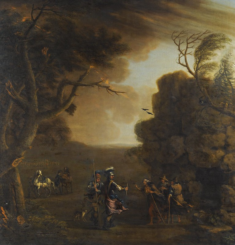 John Wootton - Macbeth and Banquo with the three witches