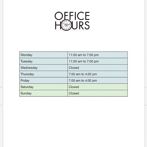 What are the office hours at Timber Dental Bethany