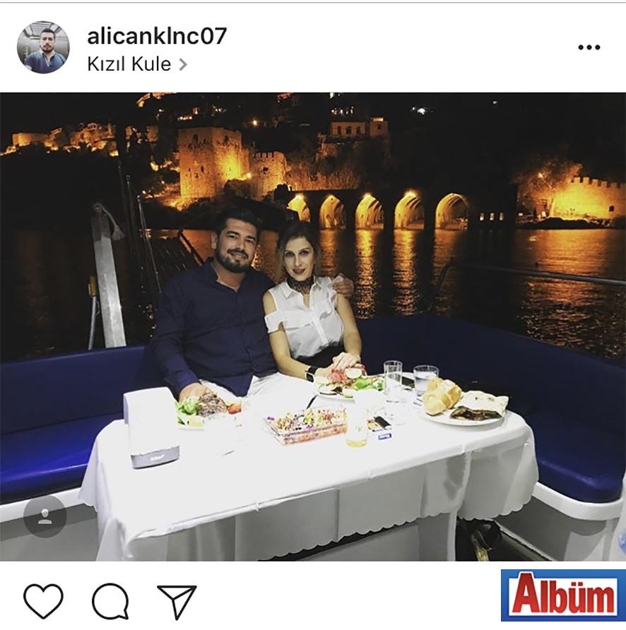 Ali Can Kılınç, Sevda Kılınç'la Tersane manzarasına karşı şık bir akşam yemeği yedi.