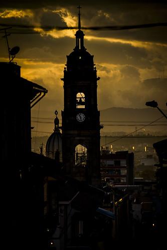 bogotá colombia sunset sky church silhouette leaningladder