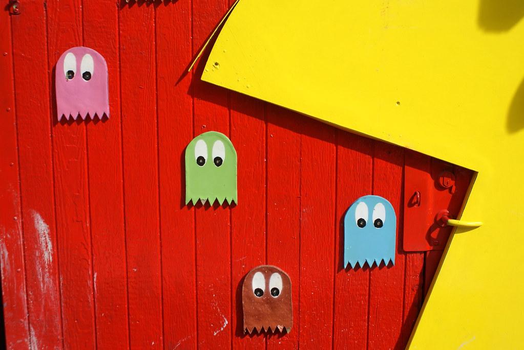 Pac Man dans le quartier de Christiania à Copenhague.