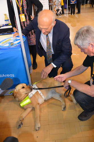 Vince Cable and guide dog Sept 17 (9)