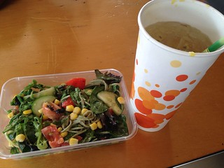 Soba Salad from September 18 and Passionfruit Lemonade from Vegan With Jadda at Brisbane Vegan Markets