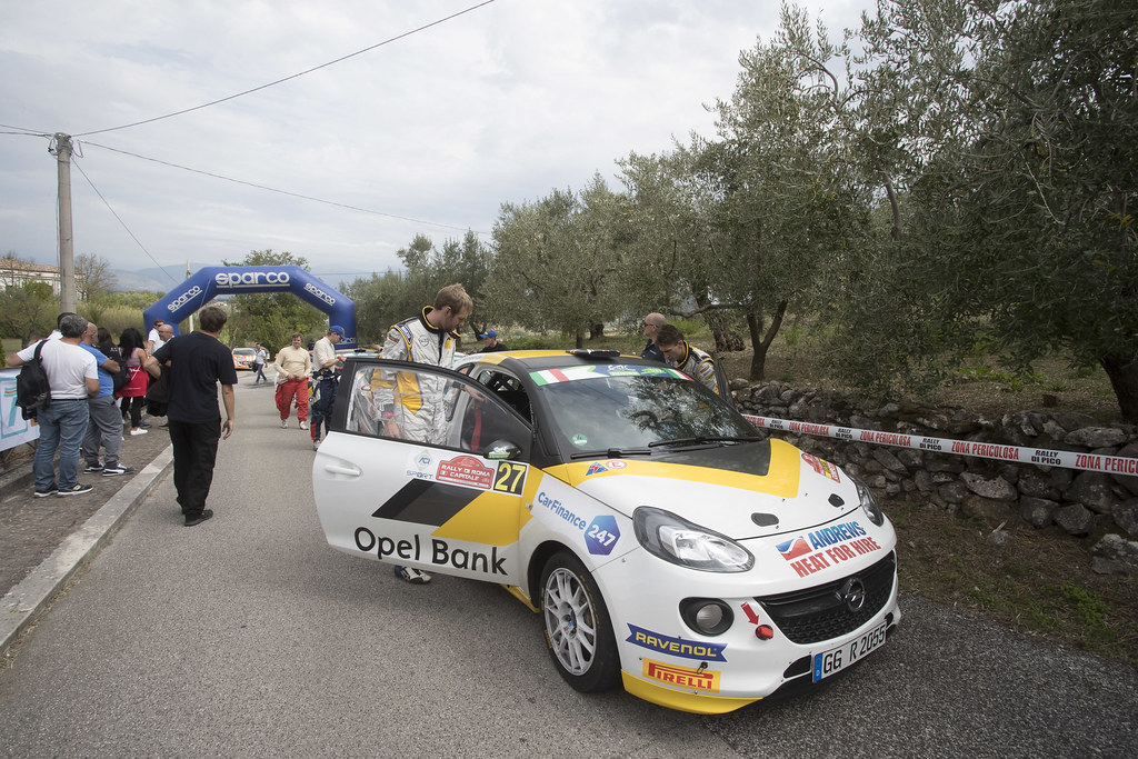 INGRAM Chris (GBR) ELLIOTT Edmondson (GBR) Opel Adam R2 ambiance Portrait during the 2017 European Rally Championship ERC Rally di Roma Capitale,  from september 15 to 17 , at Fiuggi, Italia - Photo Gregory Lenormand / DPPI