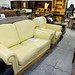 Cream leatherette ideal rental set 2+1 E250