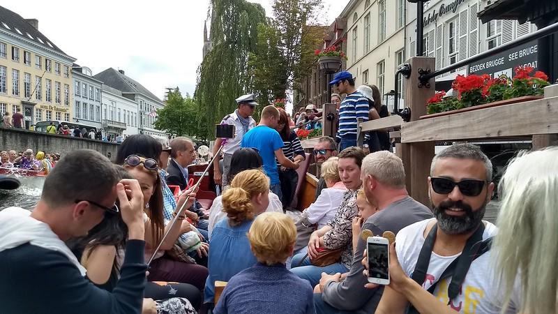 Canal boat tour in Brugge, Belgium