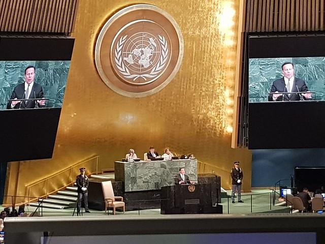 Secretario General del SICA participa en sesión ordinaria de la 72° Asamblea General de la ONU