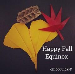 Happy Fall Equinox #대한민국 #日本 #中國 #Origami #Paper #Foldedbyme #Foldoftheday #Instaorigami #秋口 #秋 #Fall #Leaf #Foliage #Nature #Natural #Change #Golden #Fall #ElParaiso #Sept #20 #2017 #Caracas #Venezuela #chicoquick