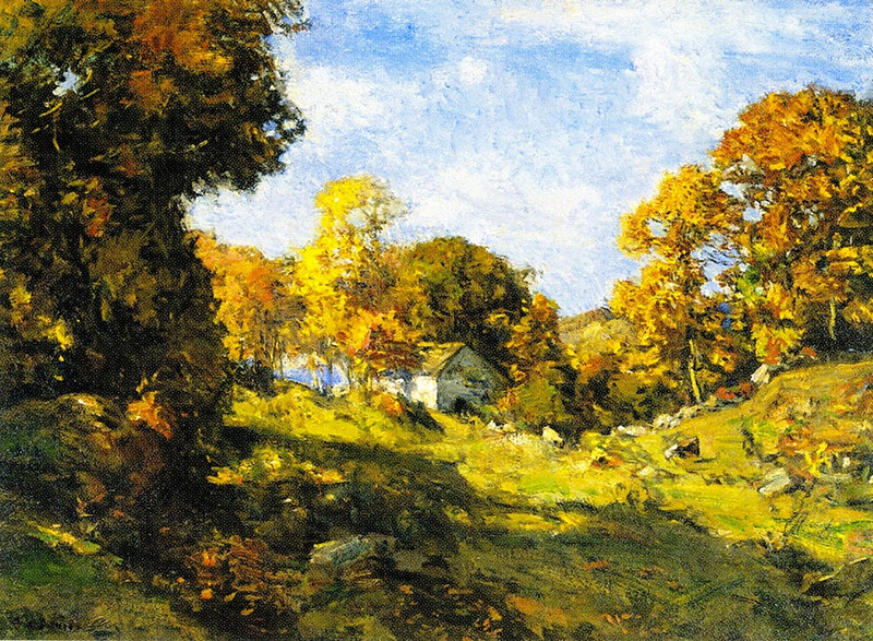 Autumn on the Farm by Charles Harold Davis (1856 - 1933)