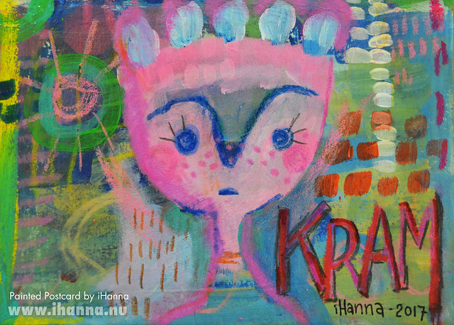 Painted Postcards | Sending you a big hug (Photo and art by Hanna Andersson a.k.a. iHanna, Sweden) #mailart
