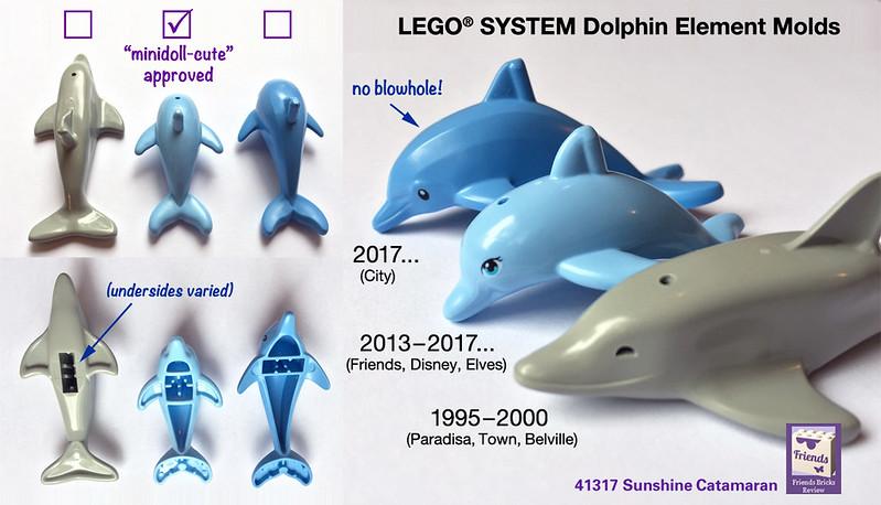 Lego Medium Blue Dolphin Ocean Jumping Animal Town Figure Minifigure Friends