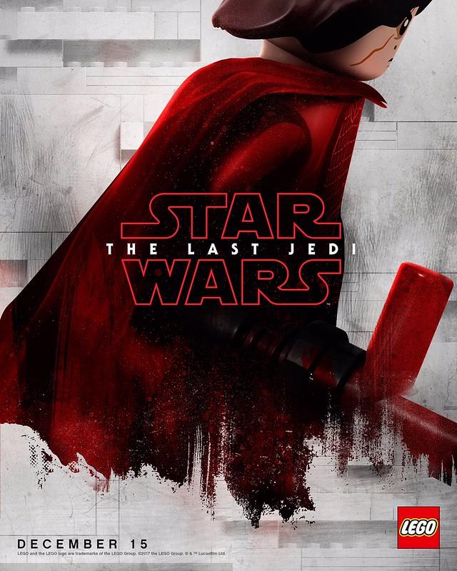 Plakaty LEGO z postaciami Star Wars The Last Jedi 6