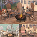 {what next} Bellevie Chairs, Table & Fire Pit for FLF