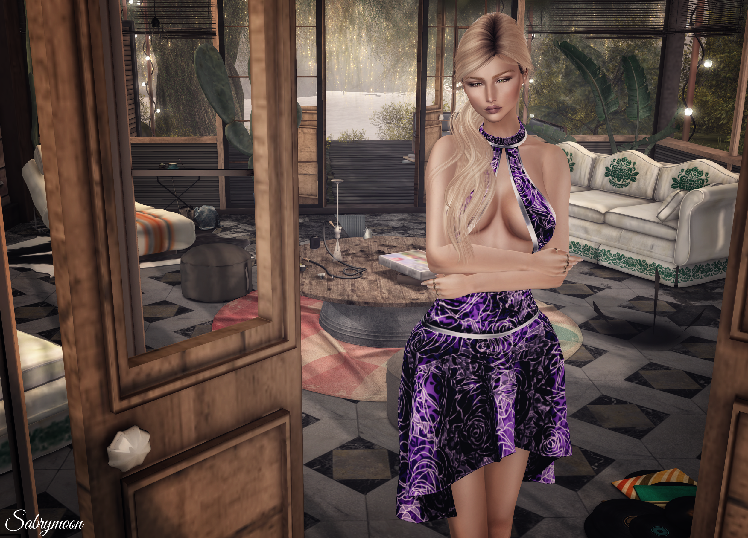 Sabrymoon wearing -AZUL- Xia outfit @ On9 JUMO Beauty Kendall Skin Exile Old Flames hair