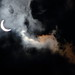Solar Eclipse with Clouds