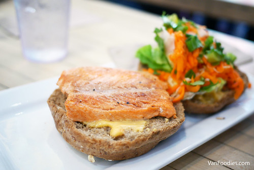 No 15. Wild salmon burger