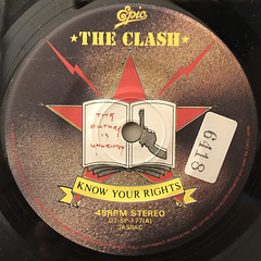 THE CLASH:KNOW YOUR RIGHTS(LABEL SIDE-A)