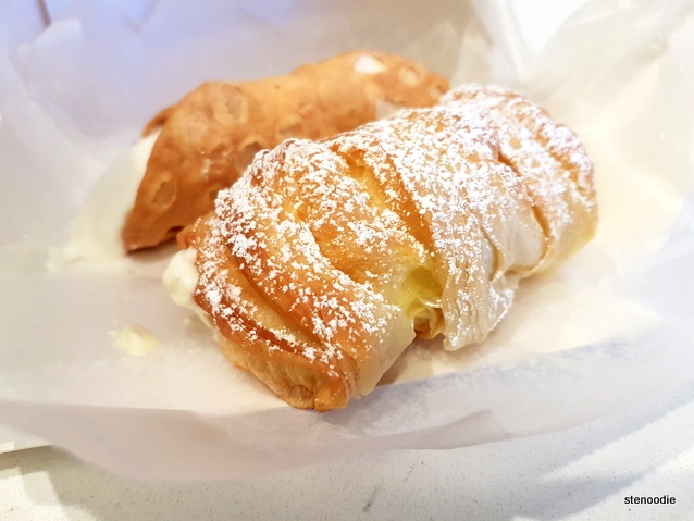 cannoli and lobster tail