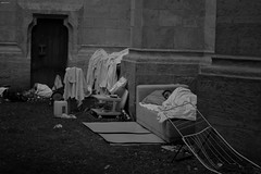 Poverty at the door of the church