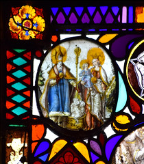St Nicholas and the boys in the tub with the Blessed Virgin and the Christ Child
