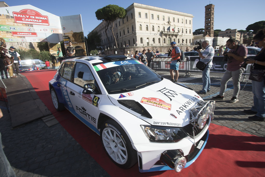 VON THURN UND TAXIS Albert (DEU) DEGANDT Bjorn (BEL) Skoda Fabia R5 ambiance Portrait during the 2017 European Rally Championship ERC Rally di Roma Capitale,  from september 15 to 17 , at Fiuggi, Italia - Photo Gregory Lenormand / DPPI