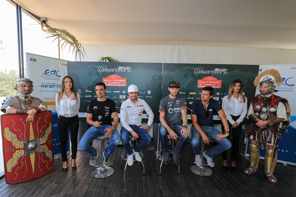 Press Conference during the 2017 European Rally Championship ERC Rally di Roma Capitale,  from september 15 to 17 , at Fiuggi, Italia - Photo Jorge Cunha / DPPI