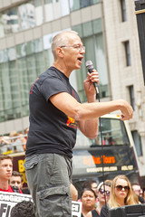 Andy Thayer LGBT Activist Solidarity with Charlottesville Vigil Chicago 8-13-17 3027