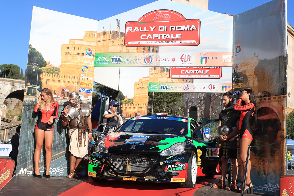 18 CONSANI Robert (FRA) CHIAPPE Patrick (FRA) Citroen DS3 R5 start during the 2017 European Rally Championship ERC Rally di Roma Capitale,  from september 15 to 17 , at Fiuggi, Italia - Photo Jorge Cunha / DPPI