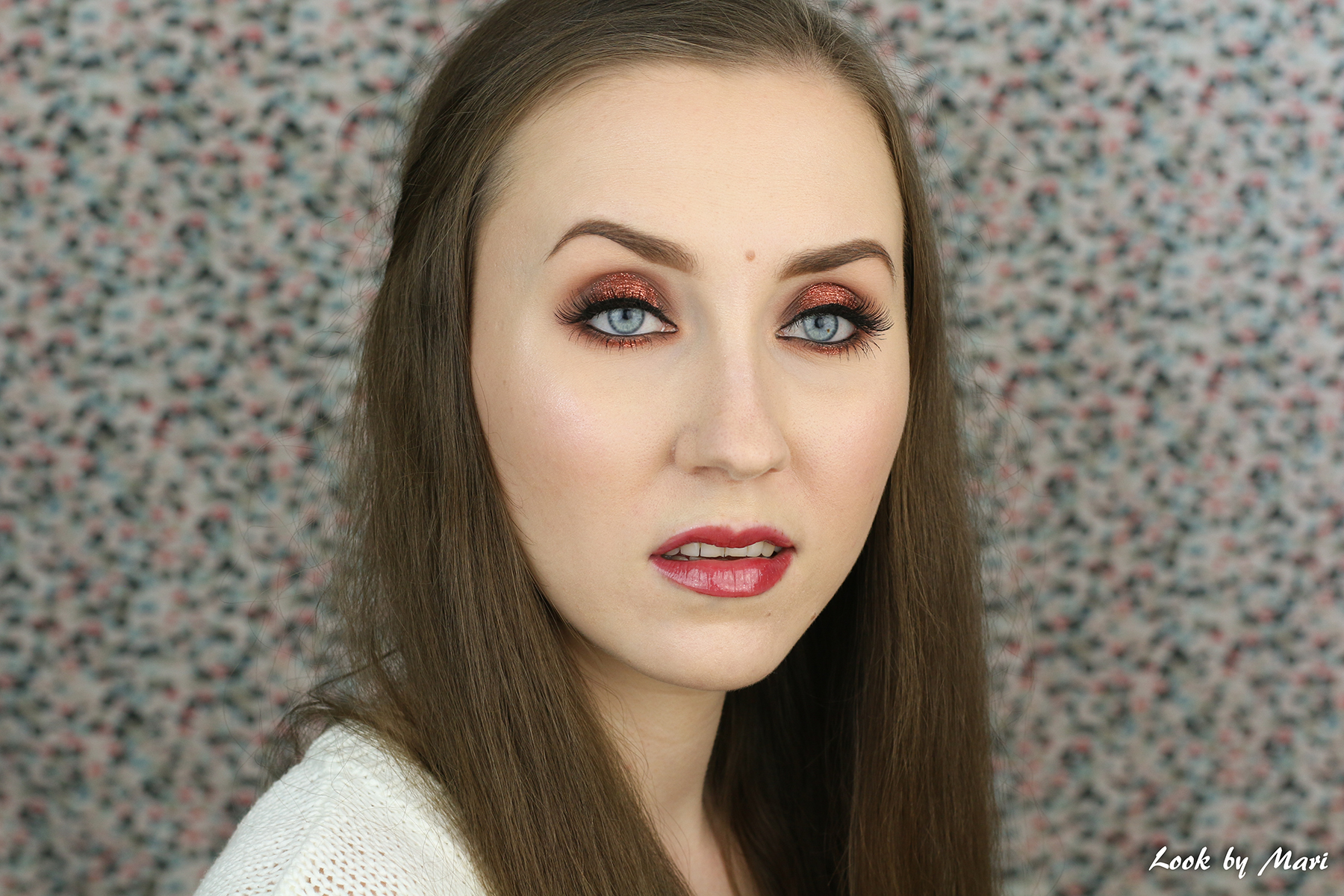 3 copper glitter eye makeup inspiration ideas kuparinen glitteri silmämeikki