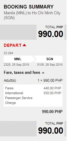 Manila to Ho Chi Minh Promo AirAsia September 25, 2018