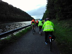 Cycling for libraries 2017 Belgium; river Maas