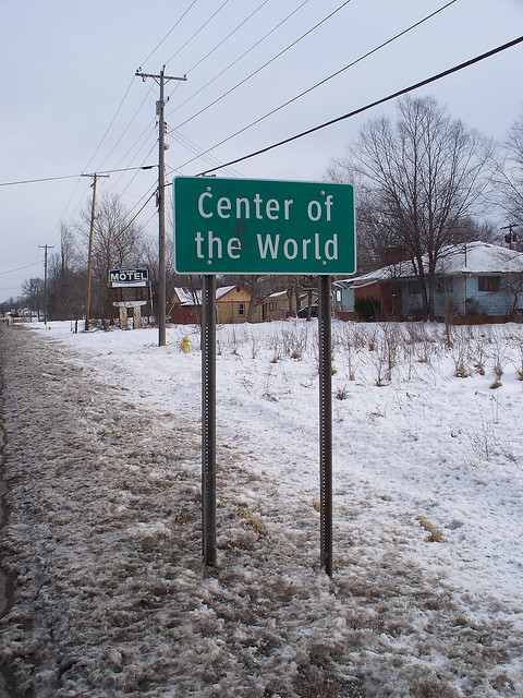 OH Center Of The World - Sign