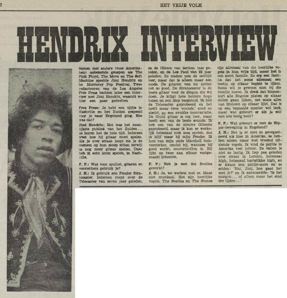 HET VRIJE VOLK (NETHERLANDS) SEPTEMBER 15, 1967