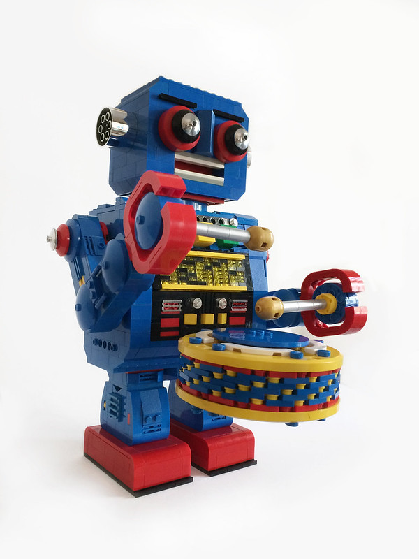 LEGO MOC Tin Drum Robot