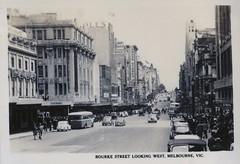 152. Bourke Street Looking West, Melbourne, Victoria, c.1948