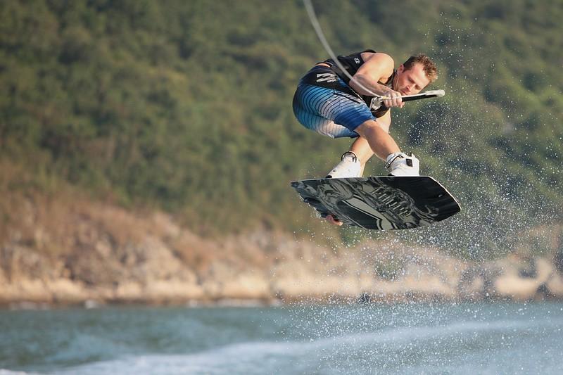 Wakeboarding in Sai Kung