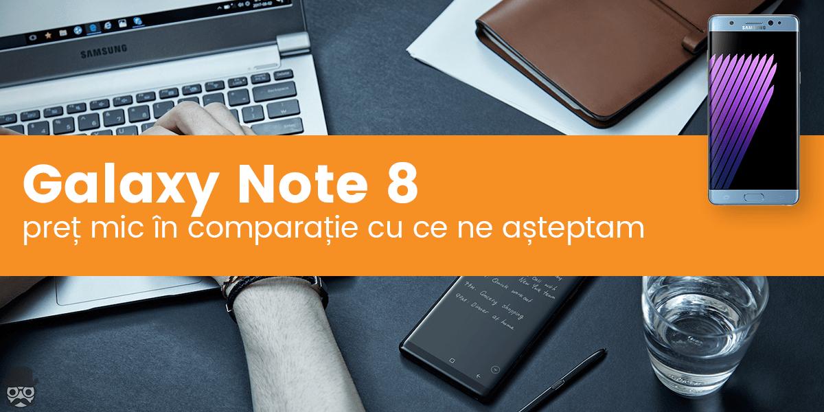 note 8 pret
