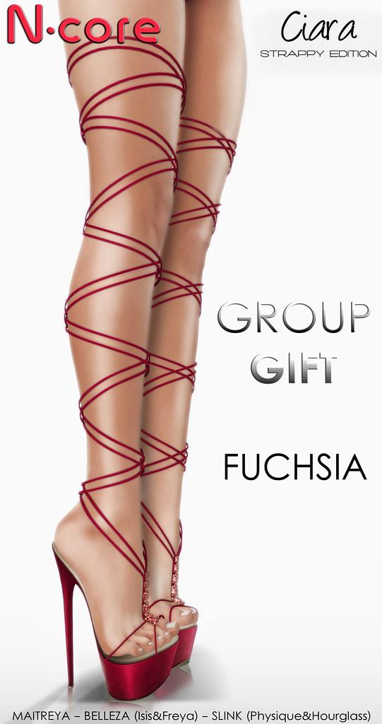 "N-core CIARA ""Strappy Edition"" (Fuchsia) GROUP GIFT! - SecondLifeHub.com"