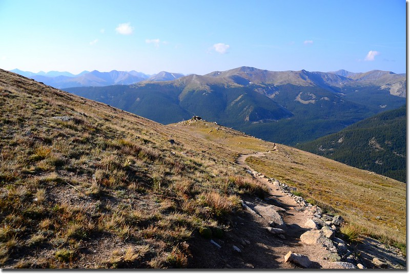 Near 12,500', looking back over the trail