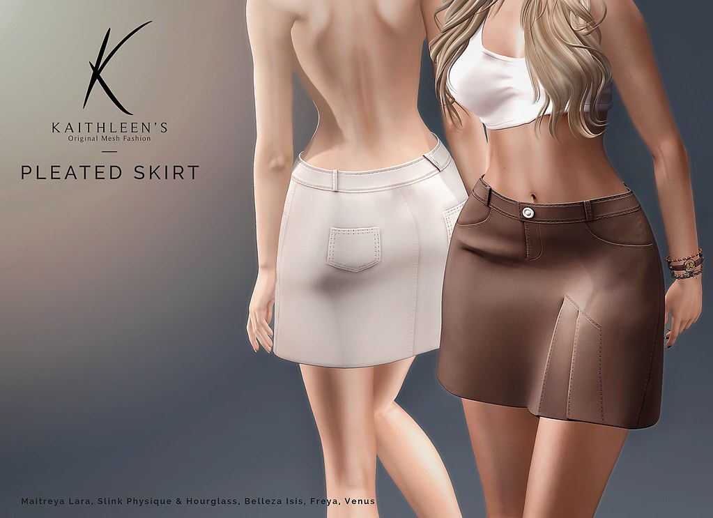 Kaithleen's Pleated Skirt Poster - SecondLifeHub.com