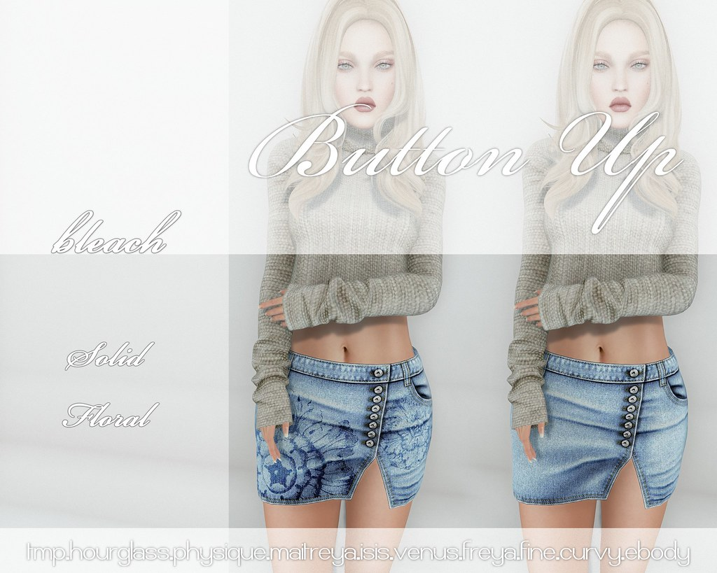 -sb-button up bleach - SecondLifeHub.com