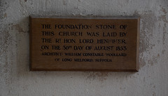 The Foundation Stone of this church was laid