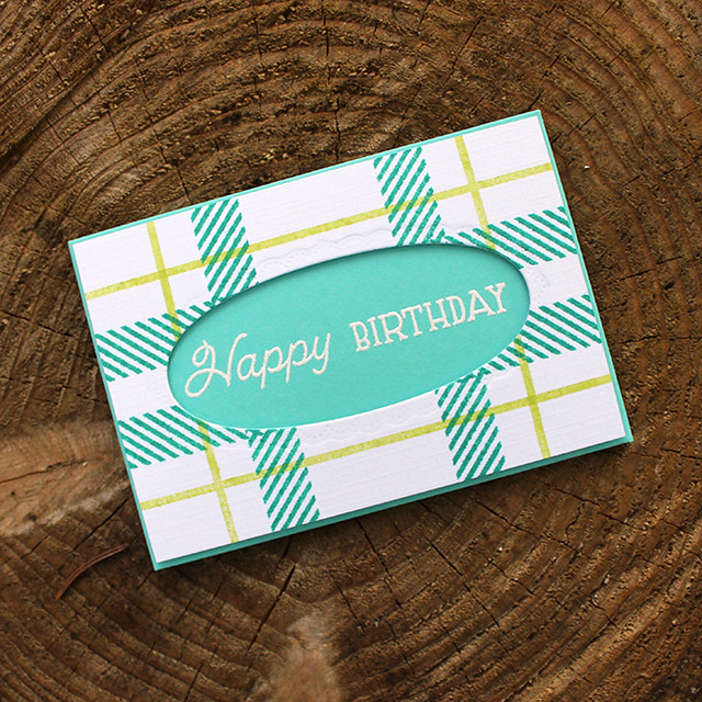 Plaid Birthday Gift Card Holder
