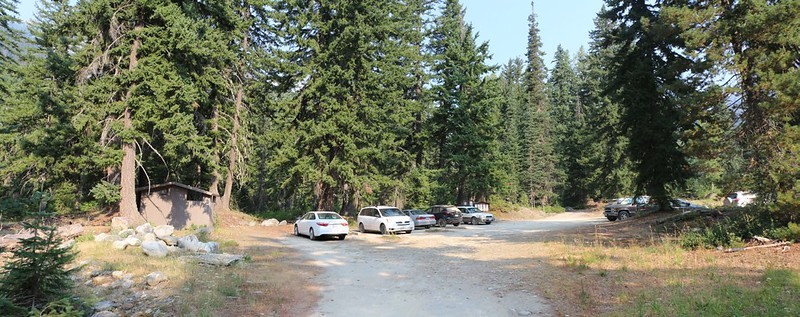 Trinity Trailhead Parking Lot, where the Buck Creek Trail begins