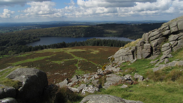 Burrator Reservoir from Sheeps Tor (2)