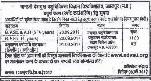 Nannji Deshmukh Veterinary Science B.V.Sc. & A.H and B.F.Sc. Admission