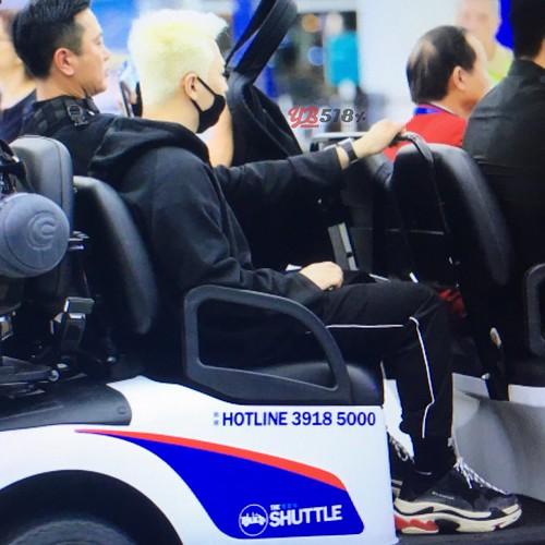 2017-09-25 Taeyang departure Hong Kong to Seoul