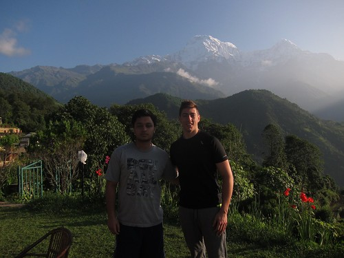 Rishav Sharma '18 and Will Rosencrans '19 (majoring in Physics) went on in the Annapurna trek through the himalayas. In front of Annapurna (10th highest peak in the world)