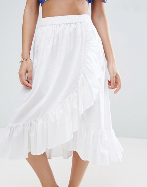 Asos wrap midi skirt @porcelinasworld